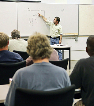 Image of students in a class
